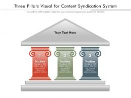 Three Pillars Visual For Content Syndication System Infographic Template