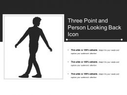 Three Point And Person Looking Back Icon