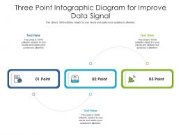 Three Point Diagram For Improve Data Signal Infographic Template