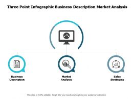 Three Point Infographic Business Description Market Analysis