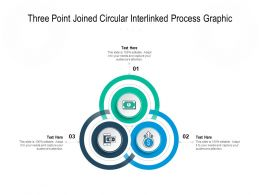 Three Point Joined Circular Interlinked Process Graphic