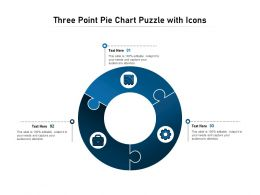 Three Point Pie Chart Puzzle With Icons