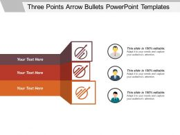 Three Points Arrow Bullets Powerpoint Templates