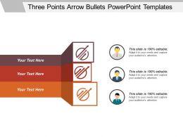 Three Points Arrow Bullets Powerpoint Templates
