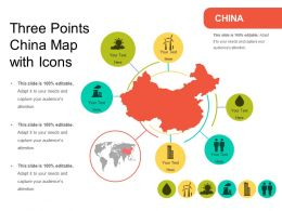 Three Points China Map With Icons