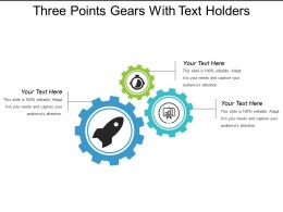 Three Points Gears With Text Holders