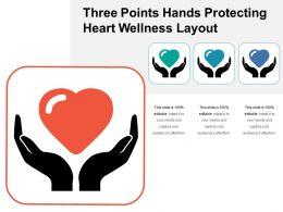 Three Points Hands Protecting Heart Wellness Layout