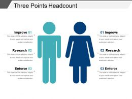 Three Points Headcount