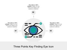 Three Points Key Finding Eye Icon