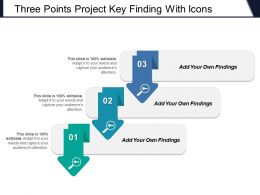 Three Points Project Key Finding With Icons