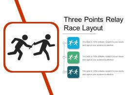Three Points Relay Race Layout