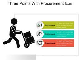 Three Points With Procurement Icon