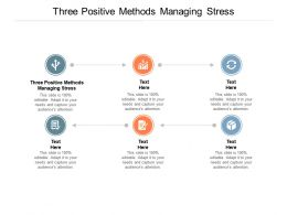 Three Positive Methods Managing Stress Ppt Powerpoint Presentation File Example Cpb