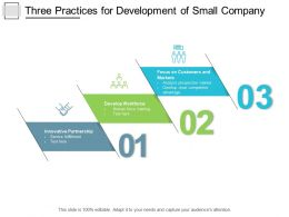 Three Practices For Development Of Small Company