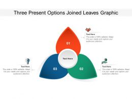 Three Present Options Joined Leaves Graphic