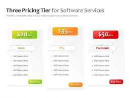 Three Pricing Tier For Software Services