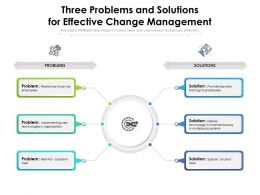 Three Problems And Solutions For Effective Change Management