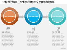 Three Process Flow For Business Communication Flat Powerpoint Design