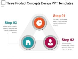 Three Product Concepts Design Ppt Templates