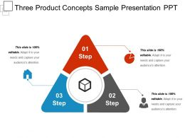 Three Product Concepts Sample Presentation Ppt