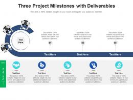 Three Project Milestones With Deliverables Infographic Template