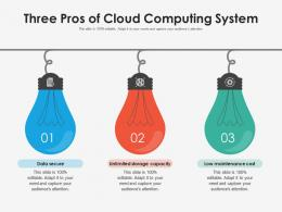 Three Pros Of Cloud Computing System
