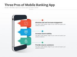Three Pros Of Mobile Banking App