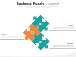Three Puzzle For Business Solutions Analysis Powerpoint Slides