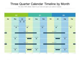 Three Quarter Calendar Timeline By Month