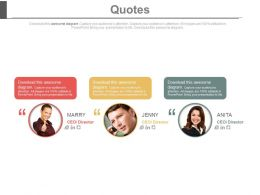 Three Quotes For Business Planning Powerpoint Slides