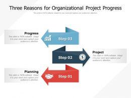 Three Reasons For Organizational Project Progress