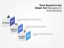 Three Reasons To Use Simple Text Messaging For Small Business