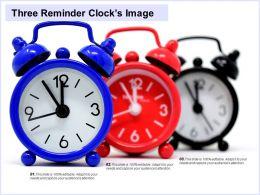 Three Reminder Clocks Image