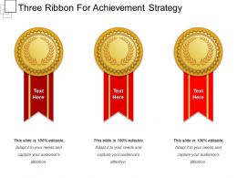 Three Ribbon For Achievement Strategy