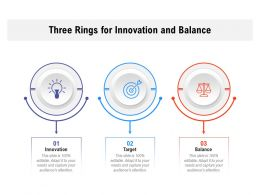 Three Rings For Innovation And Balance