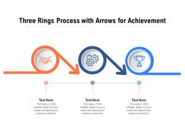 Three Rings Process With Arrows For Achievement