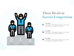 Three Rivals In Factors Competition
