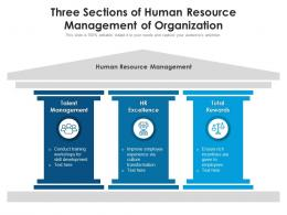 Three Sections Of Human Resource Management Of Organization