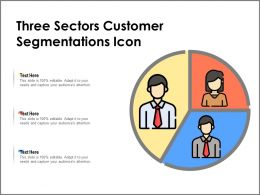 Three Sectors Customer Segmentations Icon
