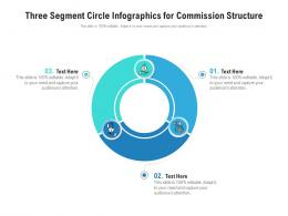Three Segment Circle For Commission Structure Infographic Template