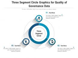 Three Segment Circle Graphics For Quality Of Governance Data Infographic Template