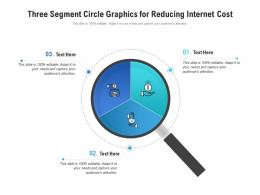 Three Segment Circle Graphics For Reducing Internet Cost Infographic Template