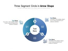 Three Segment Circle In Arrow Shape