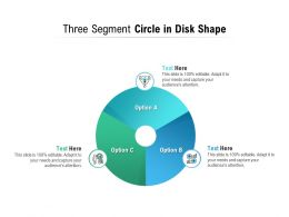 Three Segment Circle In Disk Shape