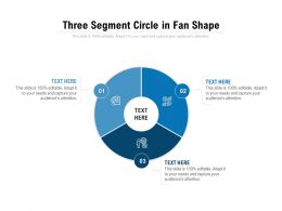 Three Segment Circle In Fan Shape