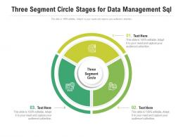 Three Segment Circle Stages For Data Management Sql Infographic Template