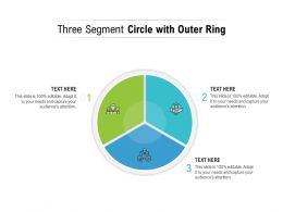 Three Segment Circle With Outer Ring