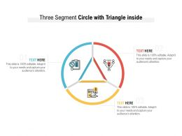 Three Segment Circle With Triangle Inside