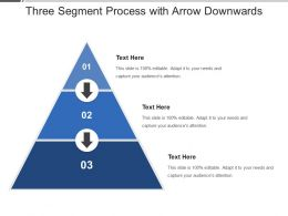 Three Segment Process With Arrow Downwards