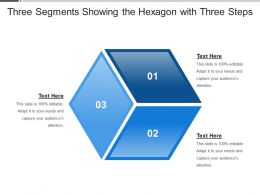 Three Segments Showing The Hexagon With Three Steps